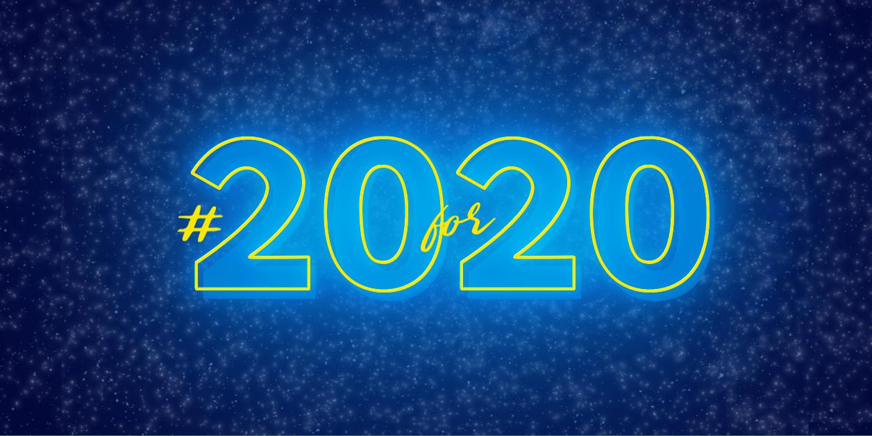 20 for 20 logo
