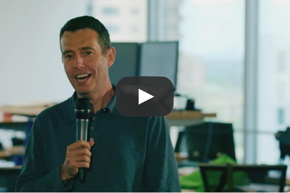 David Plouffe visits Rubicon office in Atlanta, GA to speak about the Smart City movement