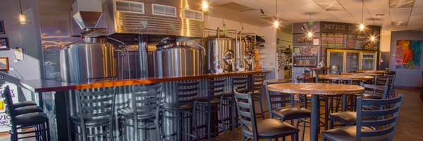 inside of Device Brewing Company in Sacramento