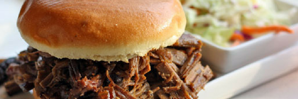 BBQ sandwich and coleslaw