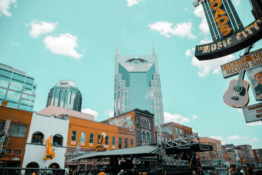 view of downtown Nashville TN