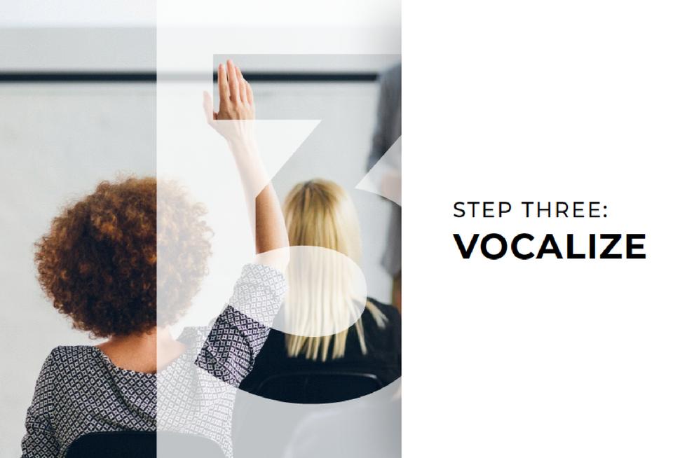 Step 3: Vocalize