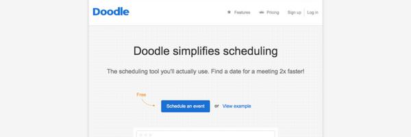 Doodle simplifies scheduling
