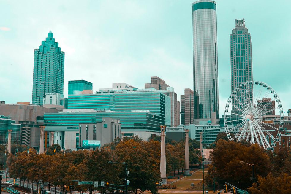 view of downtown Atlanta, Ga - Centennial Olympic Park (small business blog)