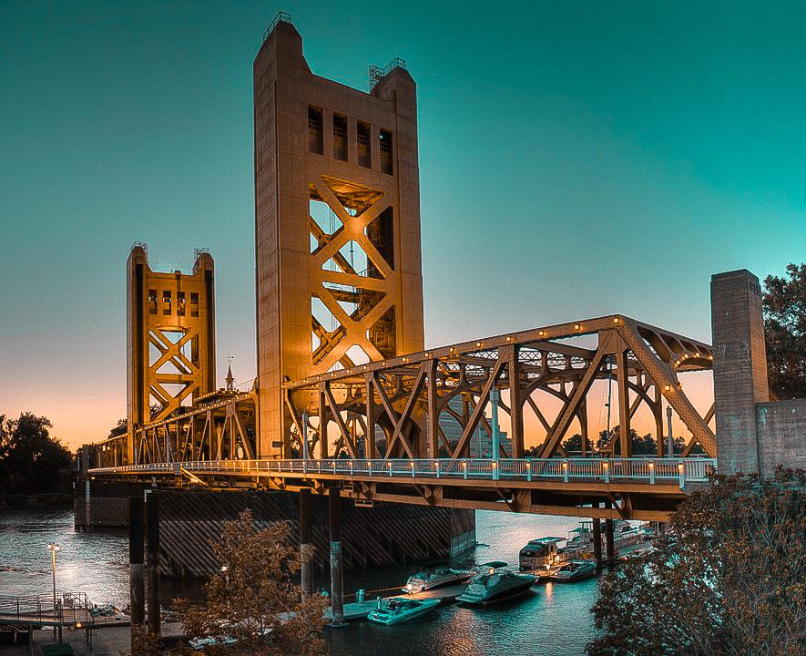 bridge in Sacramento, CA