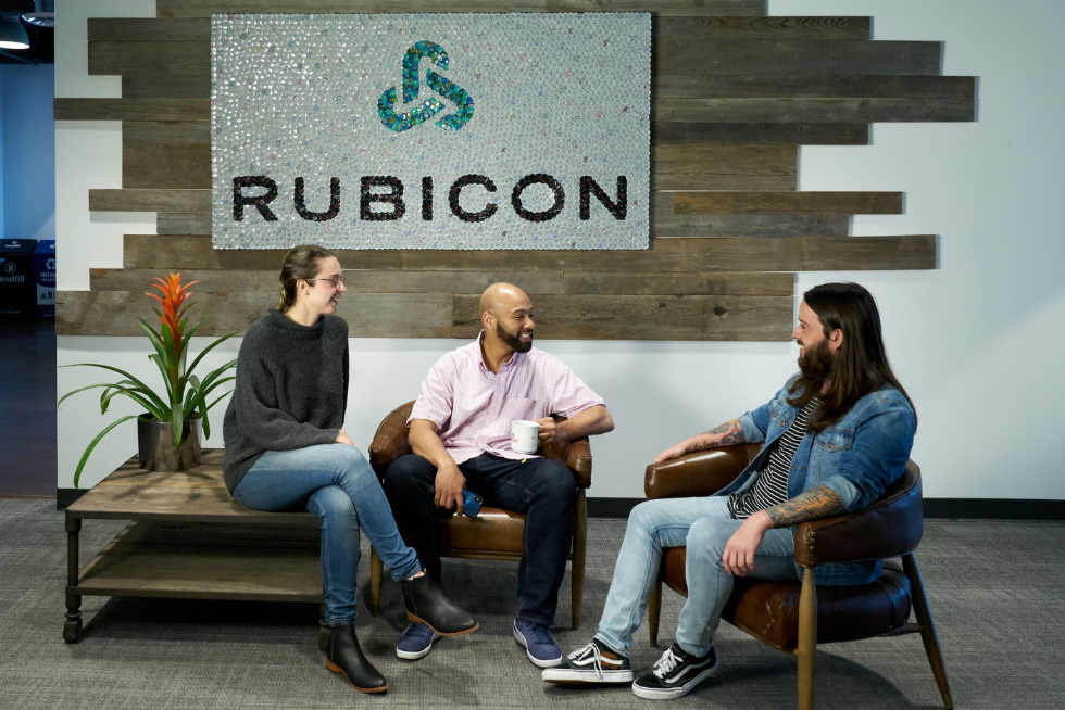 Rubicon employees in a group chat